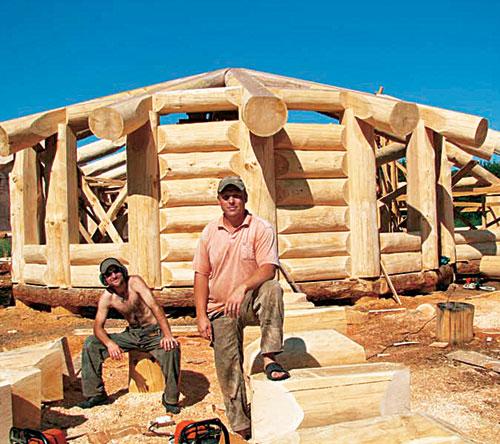 Каркасный дом из бревна своими руками